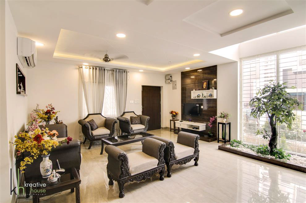 living room interior design photo gallery india images of wood floors in rooms budha mural and bodhi tree themed interiors for a villa ...