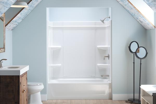 Sterling Offers a CaulkFree Shower Installation