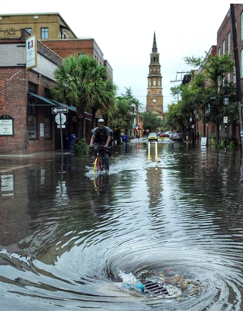 As Tropical Storm Fizzles Record Rain Floods Charleston