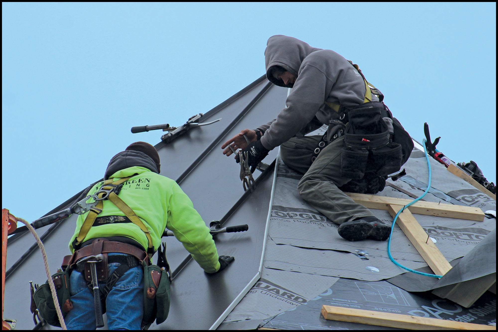 Metal Roofing For A Turret
