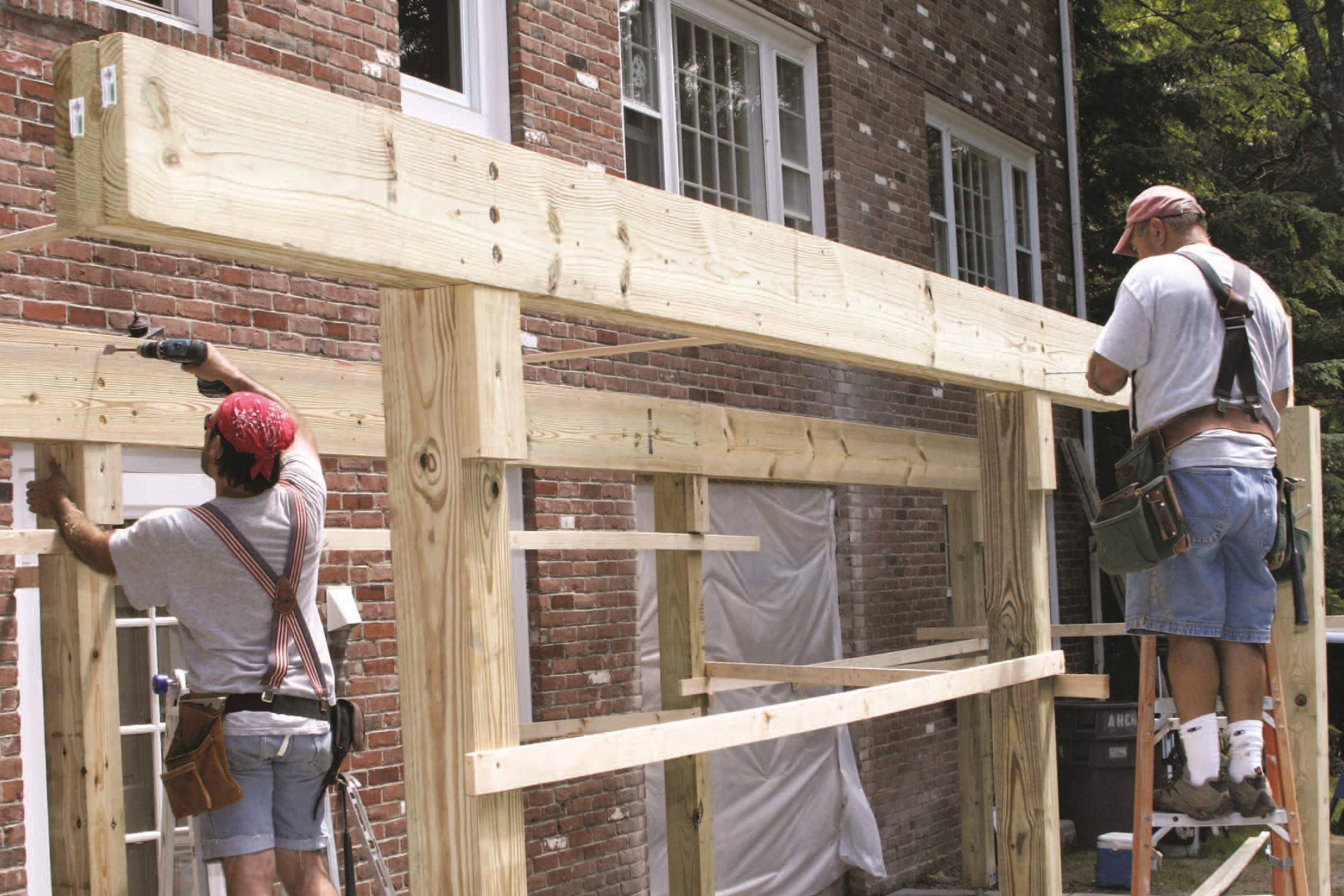 Building a Freestanding Deck  JLC Online  Decks