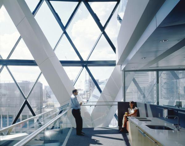 London Building Gherkin Norman Foster Structure