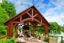 Timber-frame Pavilion Crafted In Amish Tradition