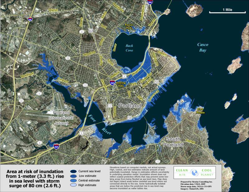 Risks of Rising Seas Pondered in Portland Maine  JLC