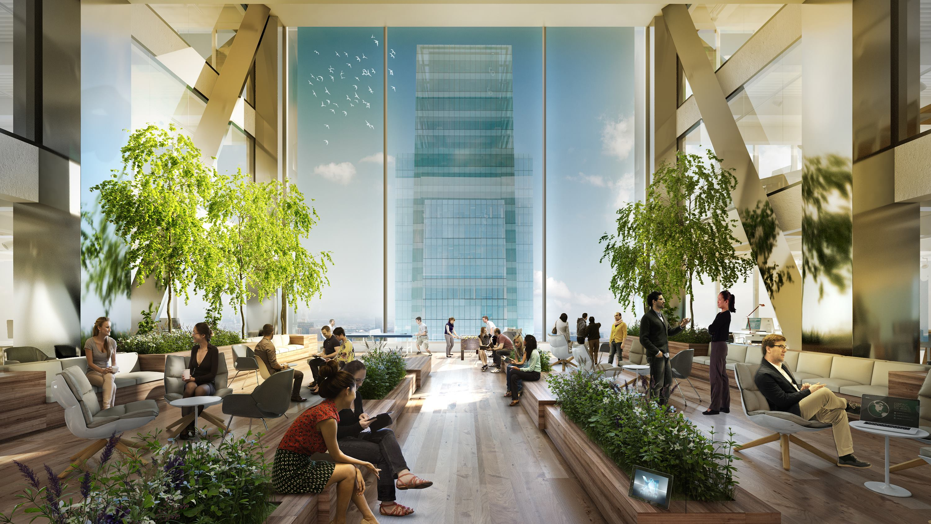 Comcast Picks Gensler To Design Interiors Of New