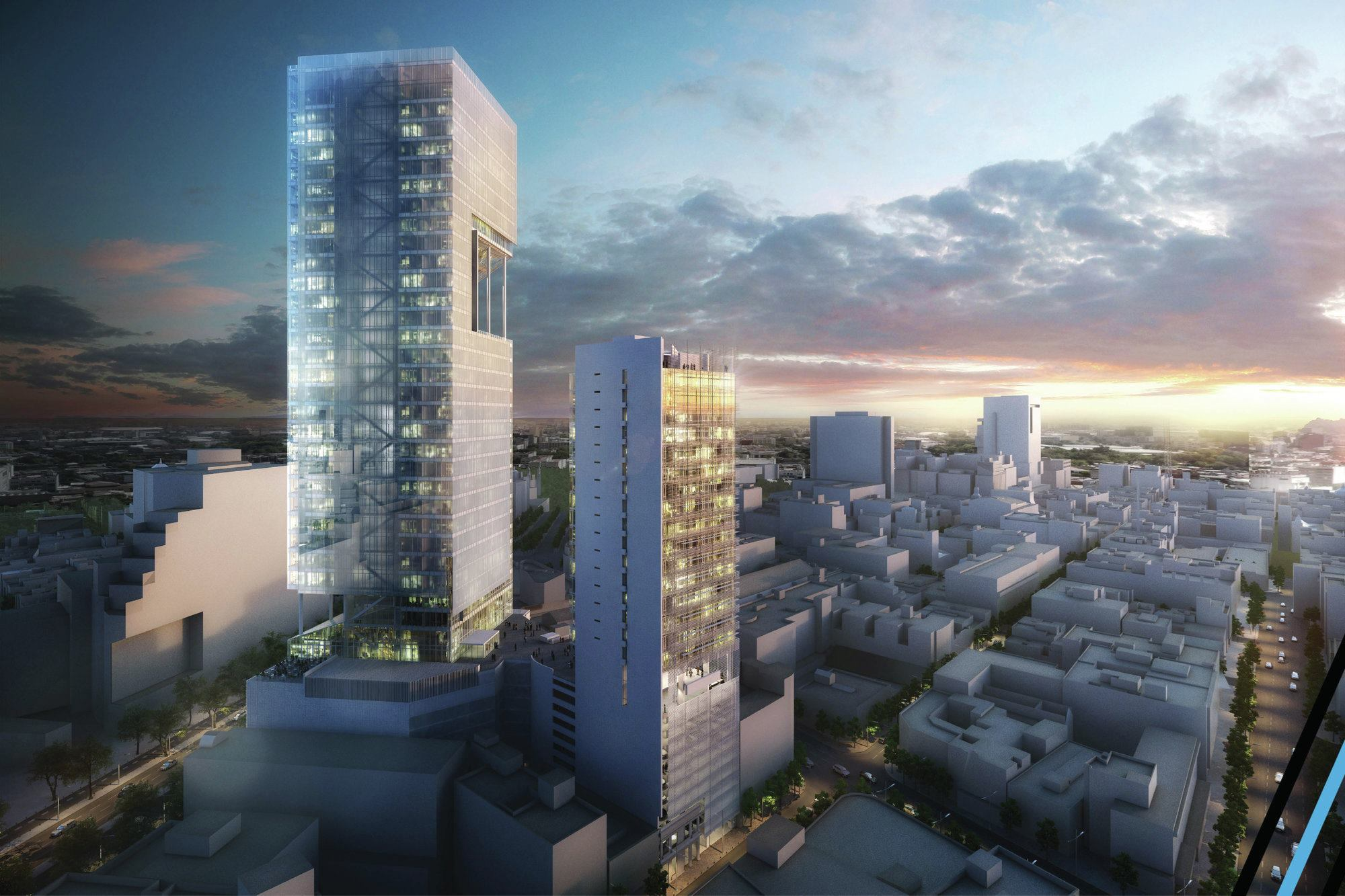 Reforma Towers Designed by Richard Meier  Partners
