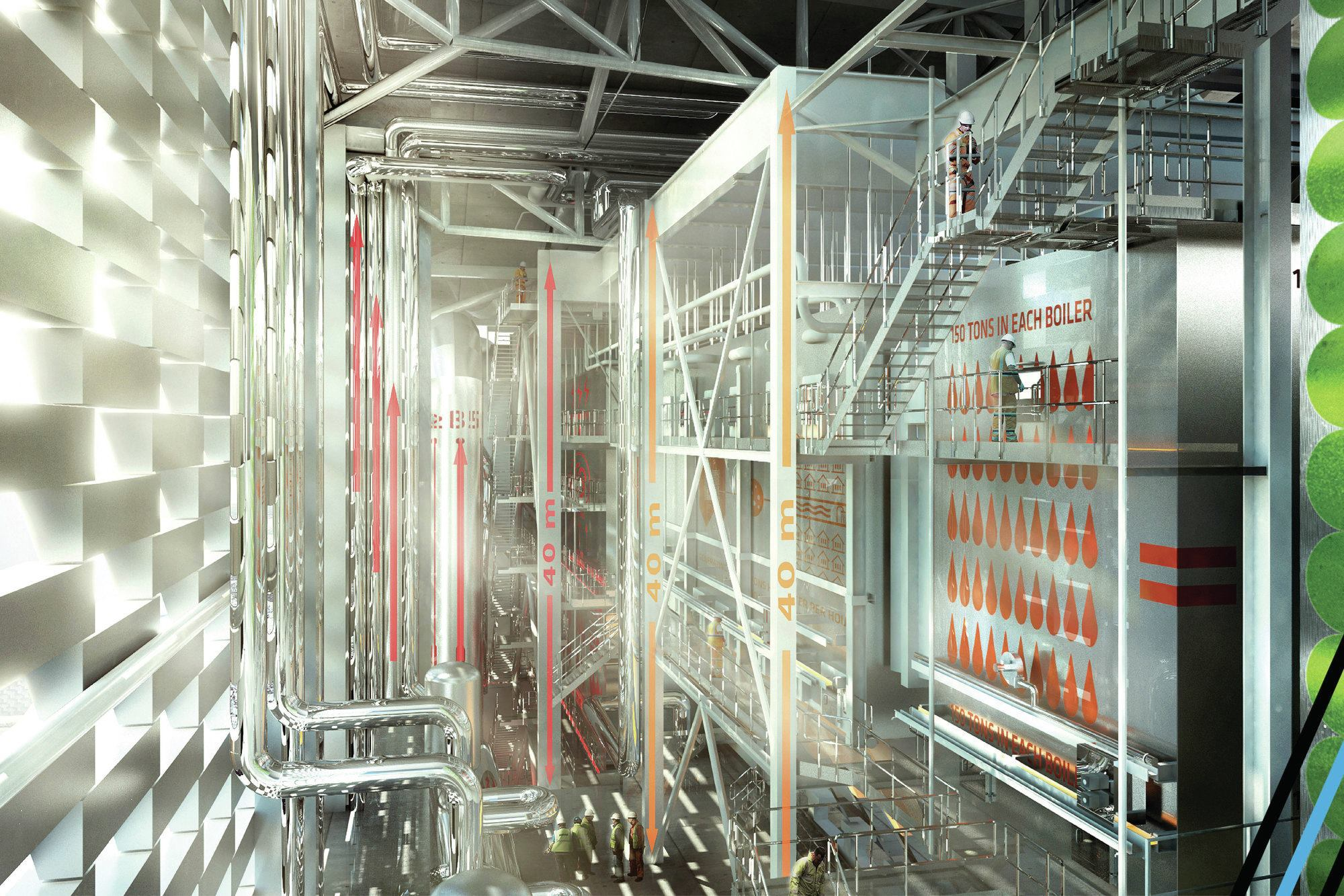 Amager Resource Center Designed by Bjarke Ingels Group BIG  Architect Magazine  Industrial
