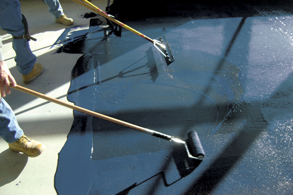 TEC LiquiDam Moisture Barrier Seals Slabs with One Coat