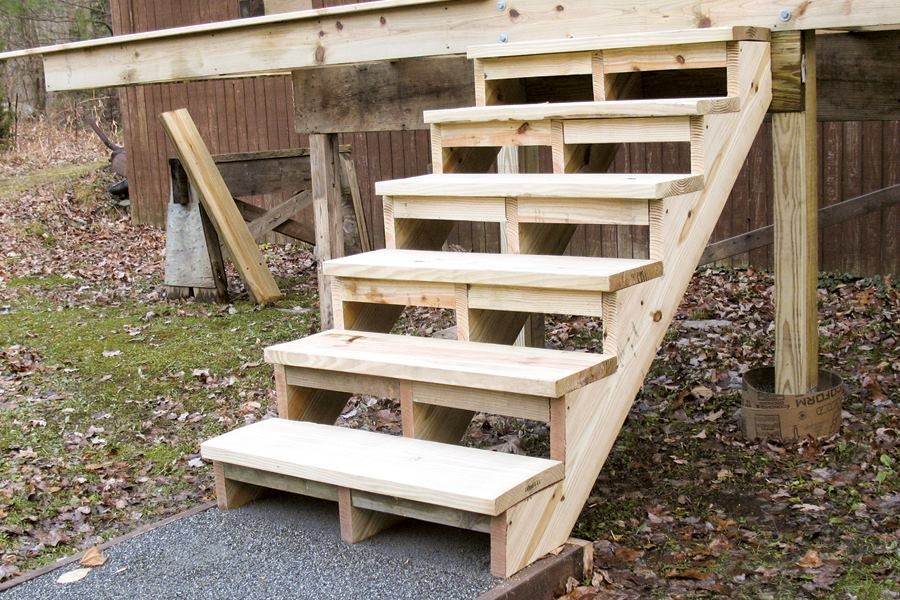 Building And Installing Deck Stairs Professional Deck Builder | Wood Stringers For Stairs | Metal | Double Stringer | Stair Tread | Framing Square | Risers