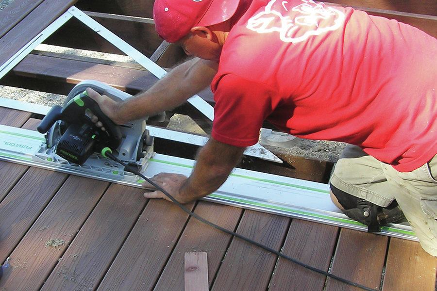 Track Saws for Deck Builders  Professional Deck Builder  Saws Tools and Equipment Benches