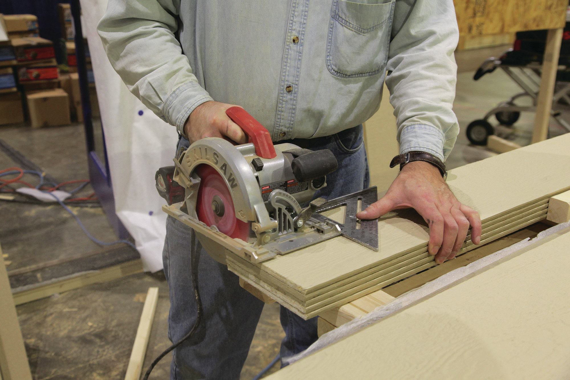 Cutting FiberCement Siding  JLC Online  Siding Power Tools