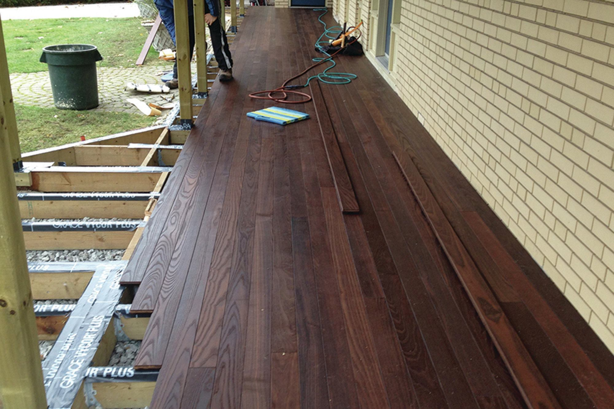Lumber Deck Construction