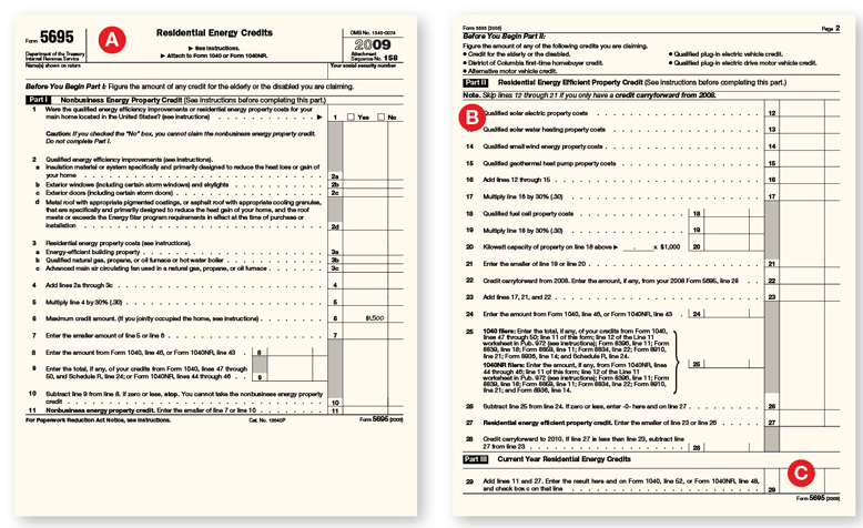 kitchen remodelers chip cabinets claiming the tax credit: about irs form 5695   remodeling ...