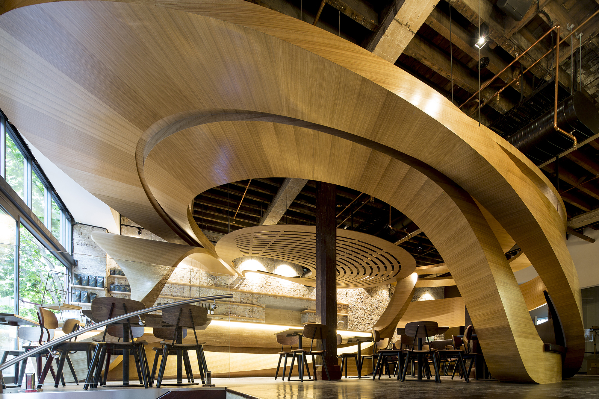 Lot1 Caf Interior Architect Magazine Wood