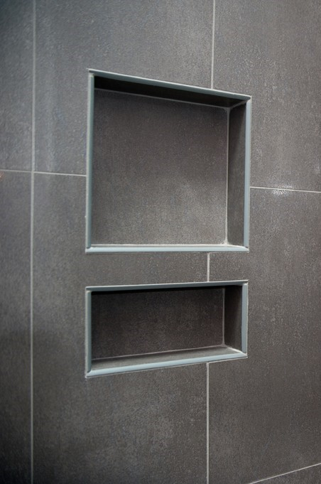 New Recycled Engineered Fiber Cement Shower Niches By