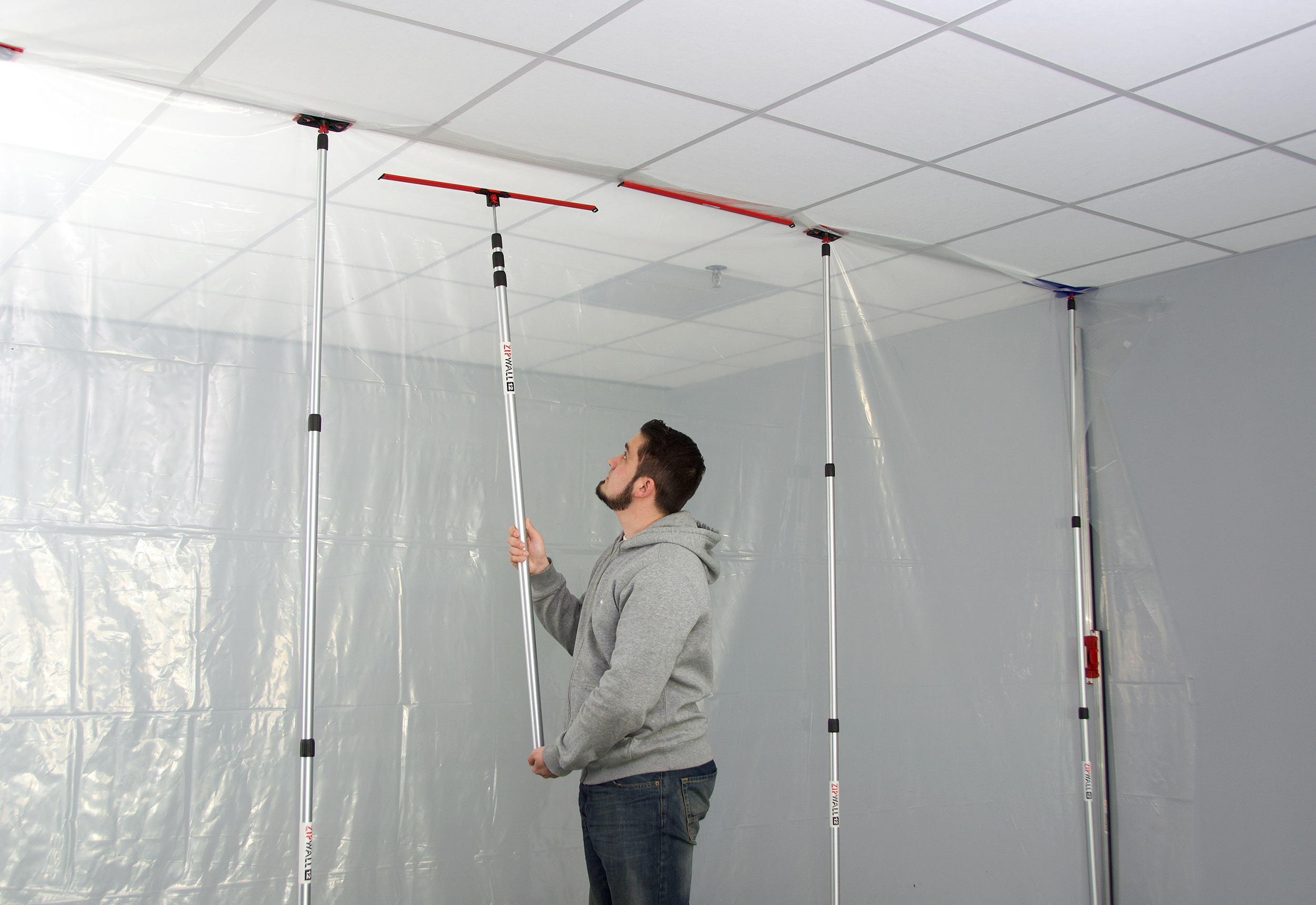 MagStrip Dust Barrier Fastener Joins ZipWall Dust Barrier