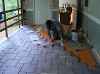 Wood Porch With a Tile Deck | Professional Deck Builder ...