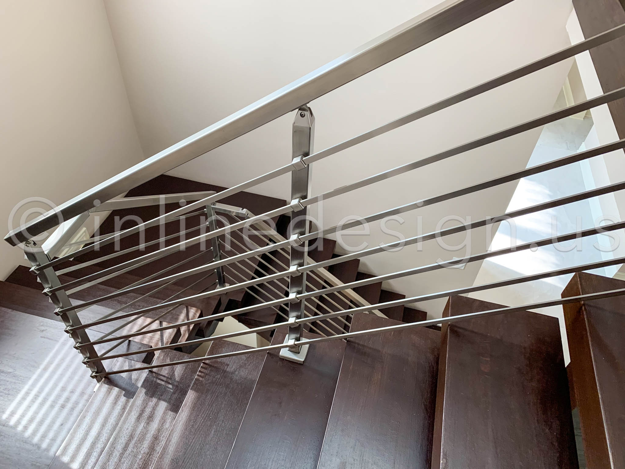 Modern Cable Railing On Mid Century Modern Architecture | Modern Cable Stair Railing | Stainless Steel Stair | Railing Systems | Glass Railing | Entry Foyer | Staircase Remodel