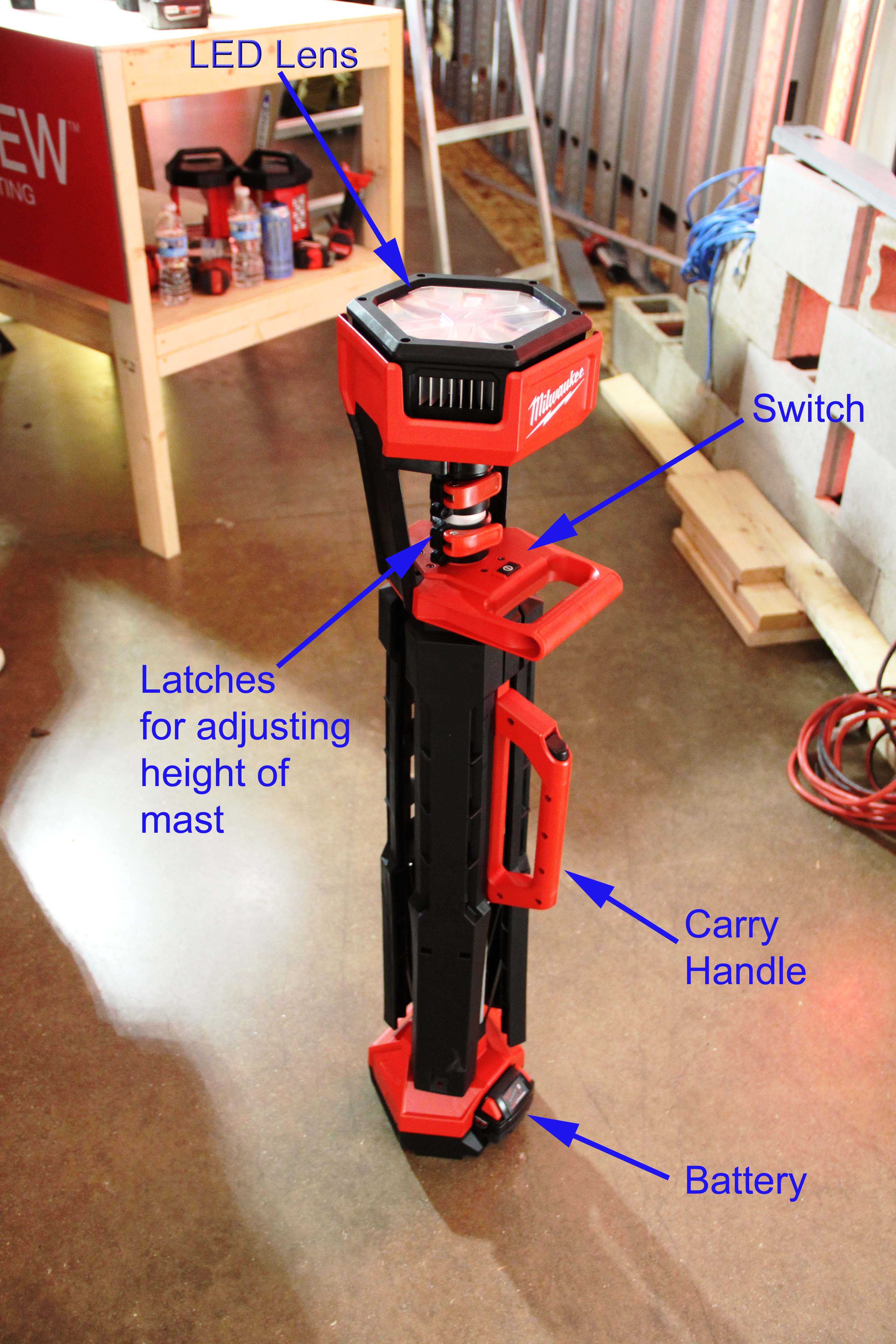 Milwaukee M18 Light Stand  Tools of the Trade  Jobsite Equipment Cordless Tools Milwaukee