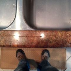 Kitchen Sink Flange Monarch Island Repairing Cracked Granite At Cutouts | Jlc Online ...