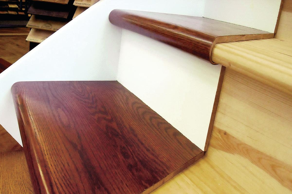 A Step In The Right Direction Starecasing Hardwood Overlay System | African Mahogany Stair Treads | Handrail | Cutting Board | Plank | Oak | Mahogany Wood Stair
