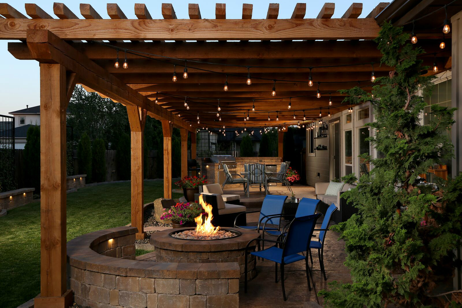 Outdoor Living Space Has Everything But The Kitchen Sink