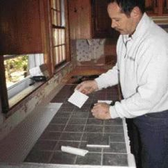 Kitchen Contractor Storage Sets For Tiling Over A Laminate Countertop | Jlc Online Finishes ...