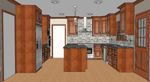 kitchen remodel pictures resurfacing cabinets cost vs value project major upscale remodeling after