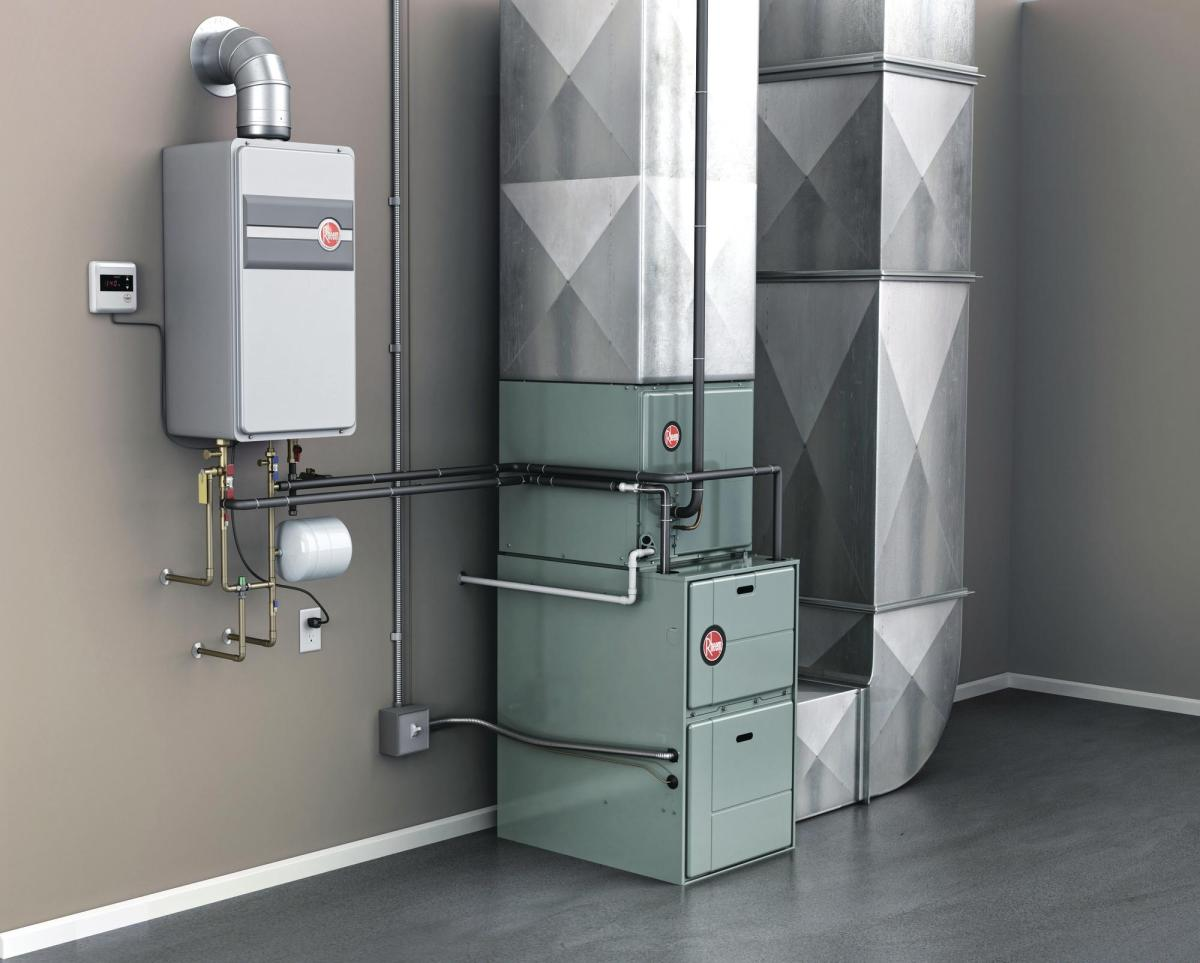 split central air cooling/heating system