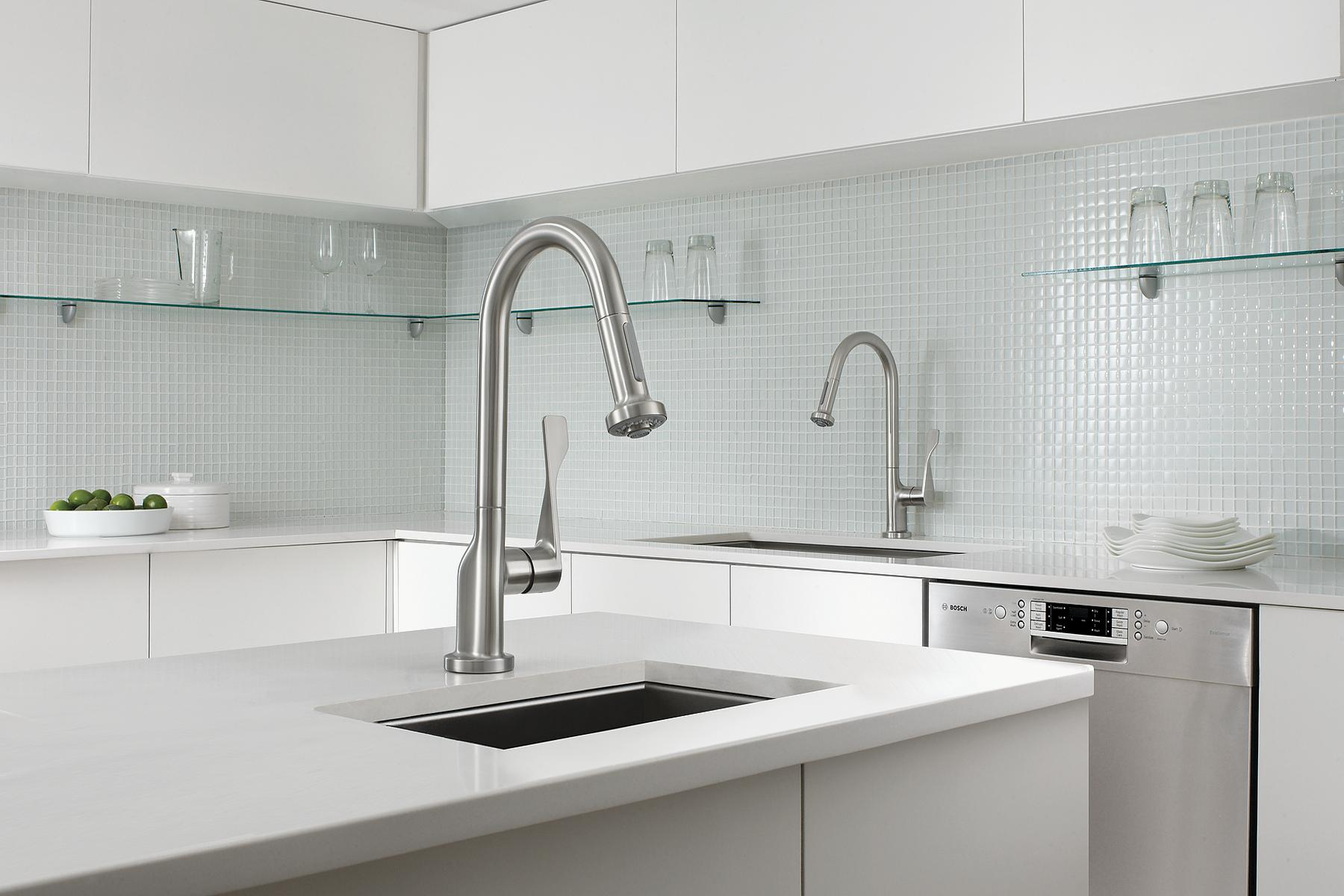 hansgrohe kitchen faucet stainless steel doors outdoor kitchens axor citterio prep | remodeling ...