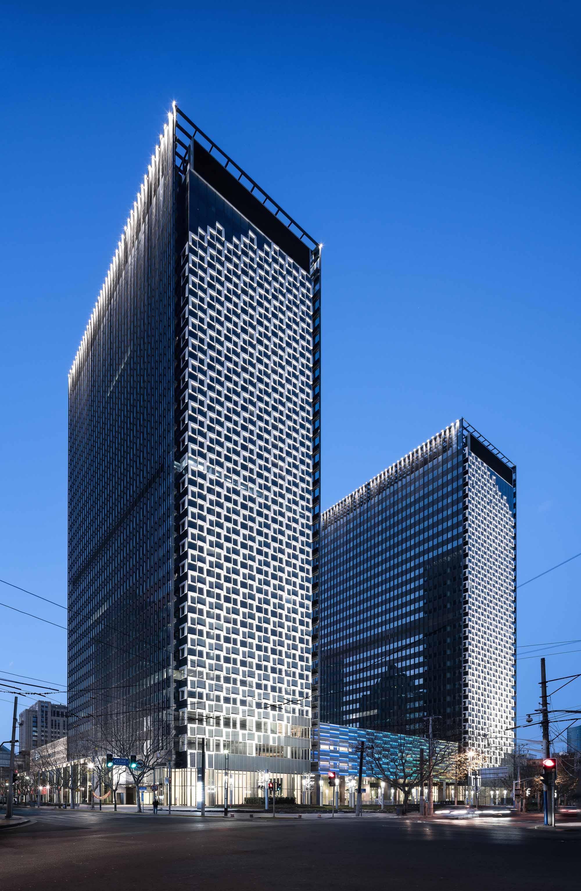 Shanghai Landmark Center  Architect Magazine  Aedas Shanghai CHINA Commercial Office
