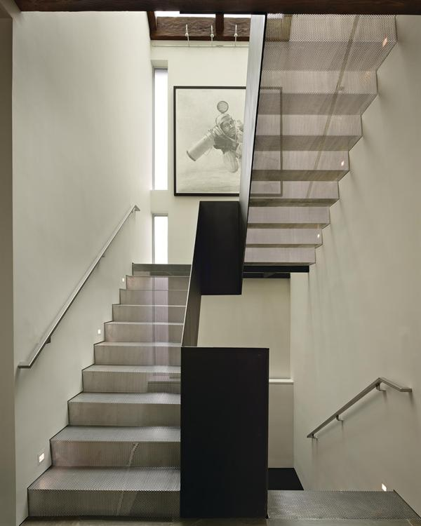 Steel Stair  Residential Architect  Deforest Architects Seattle WA United States Custom