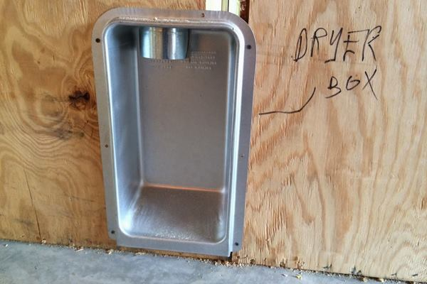 Cheap Trick  Recessed Dryer Box Tips  Custom Home