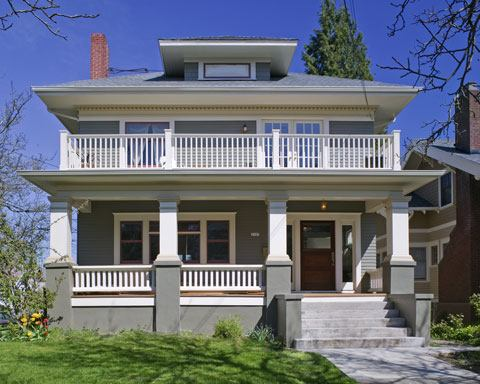 Interpretive Restoration Rescues the Exterior of This 1910 Foursquare  Remodeling