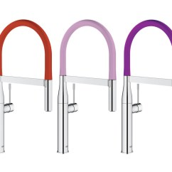 Professional Kitchen Faucets Costco Remodel Grohe Launches Colorful Faucet Collection | Builder ...