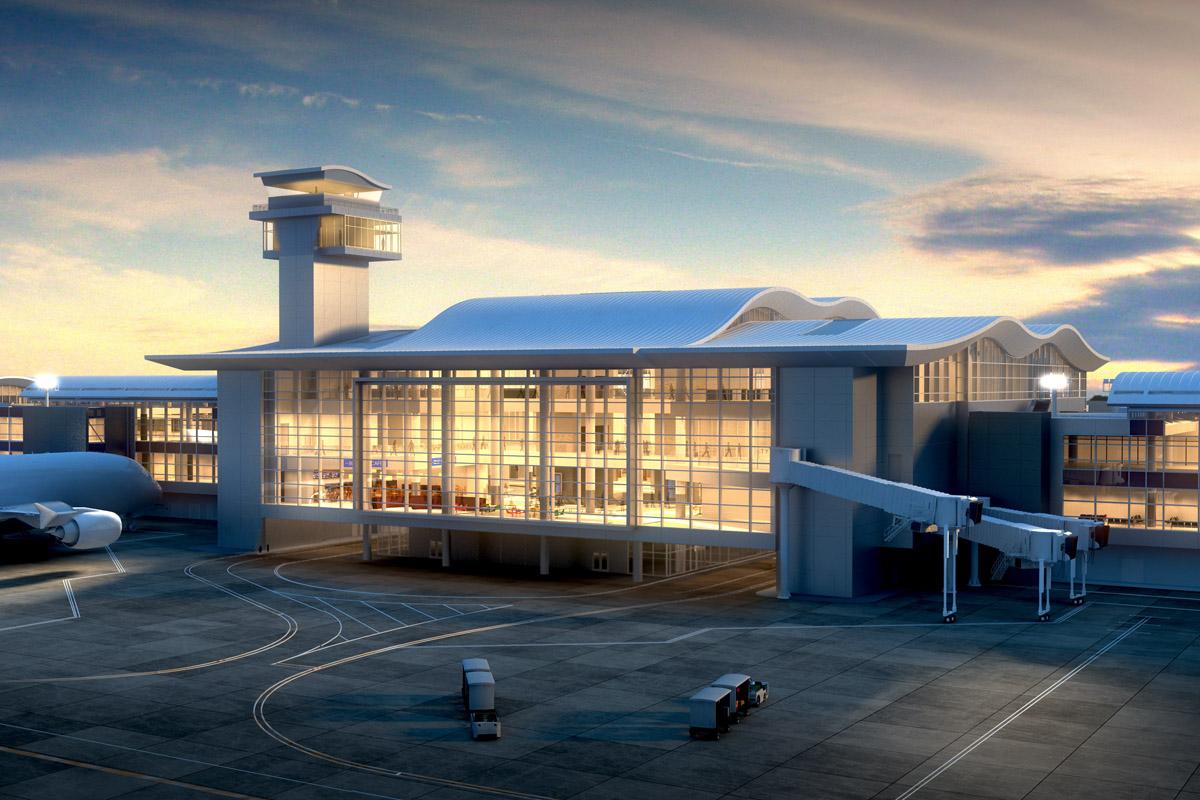 Lax Midfield Satellite Concourse Architect Magazine