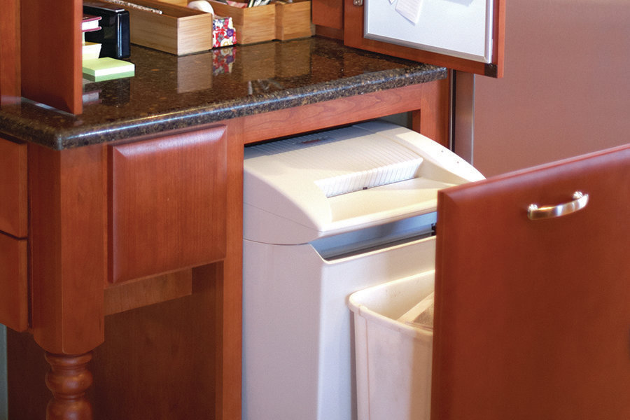 kitchen cabinets alexandria va blue countertops mail handler: including a paper shredder in the ...