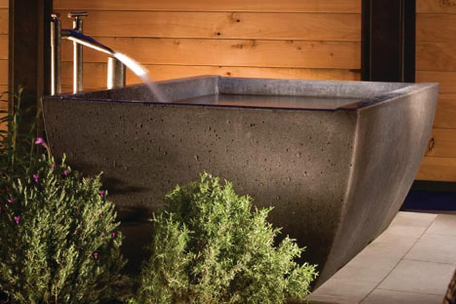 copper kitchen appliances black bench for table double wave soaking tub by sonoma cast stone | custom home ...