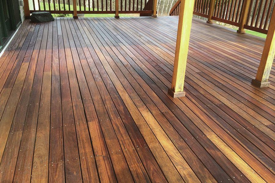 Ipe Decking Finishes  Professional Deck Builder