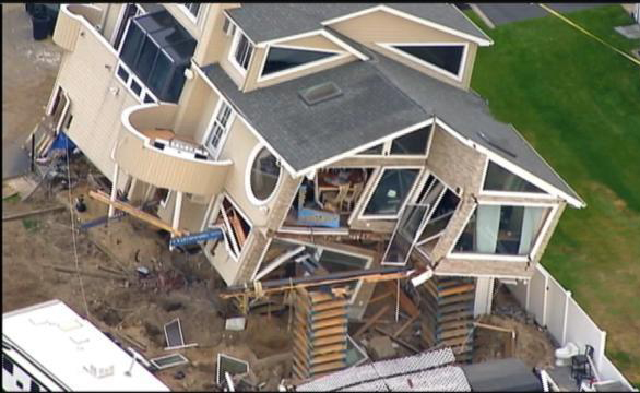 Sandy Damaged House Destroyed In Fall From Cribbing Jlc