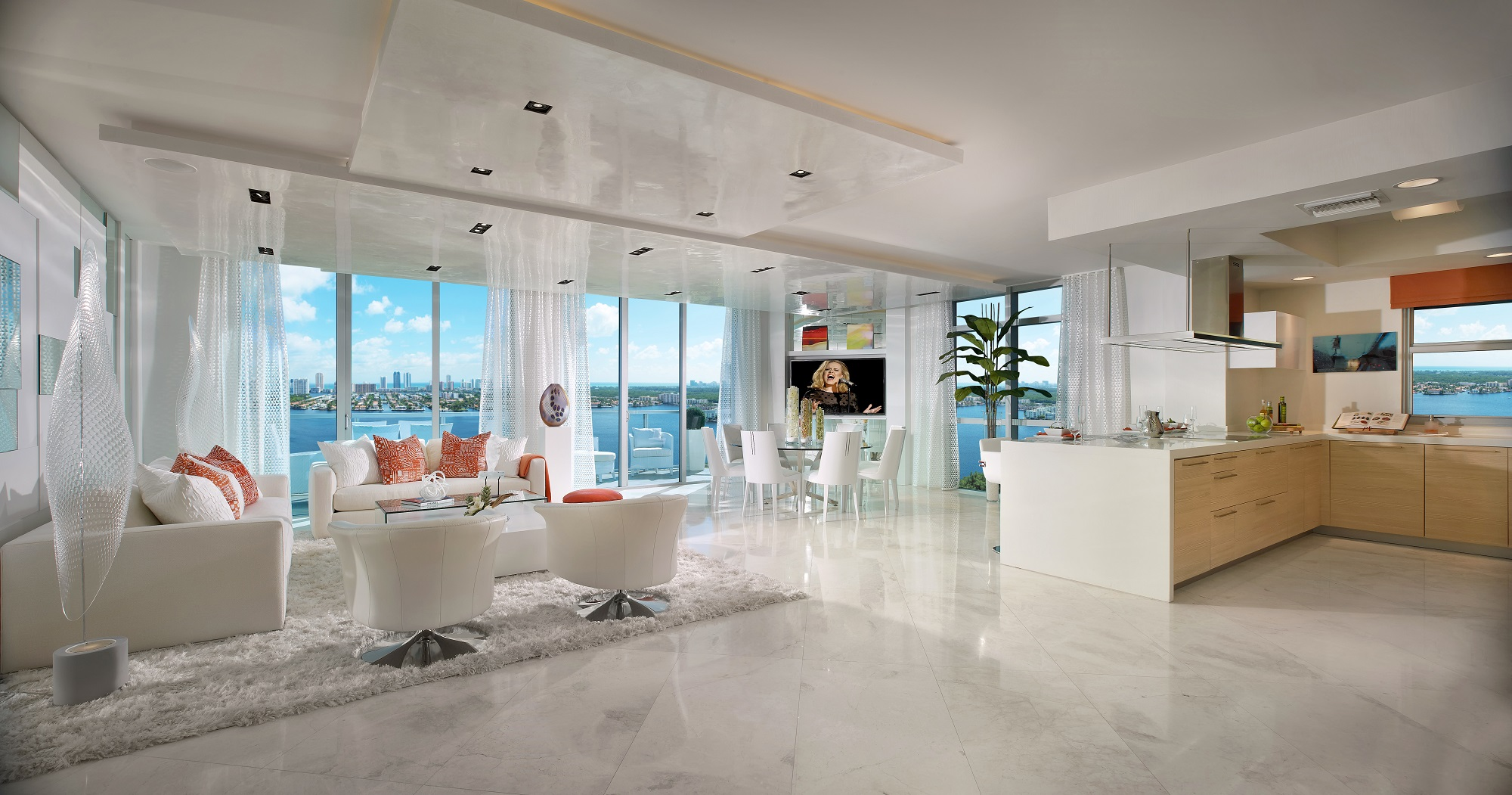 living room design ideas for condos leather sofa luxury south florida condo overcomes foreclosure, zoning ...