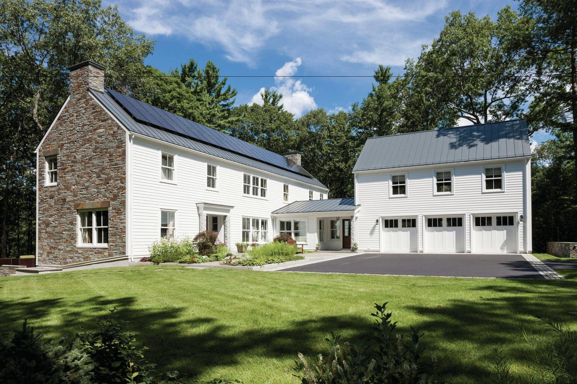 Riverfront Farmhouse Concord Mass Custom Home