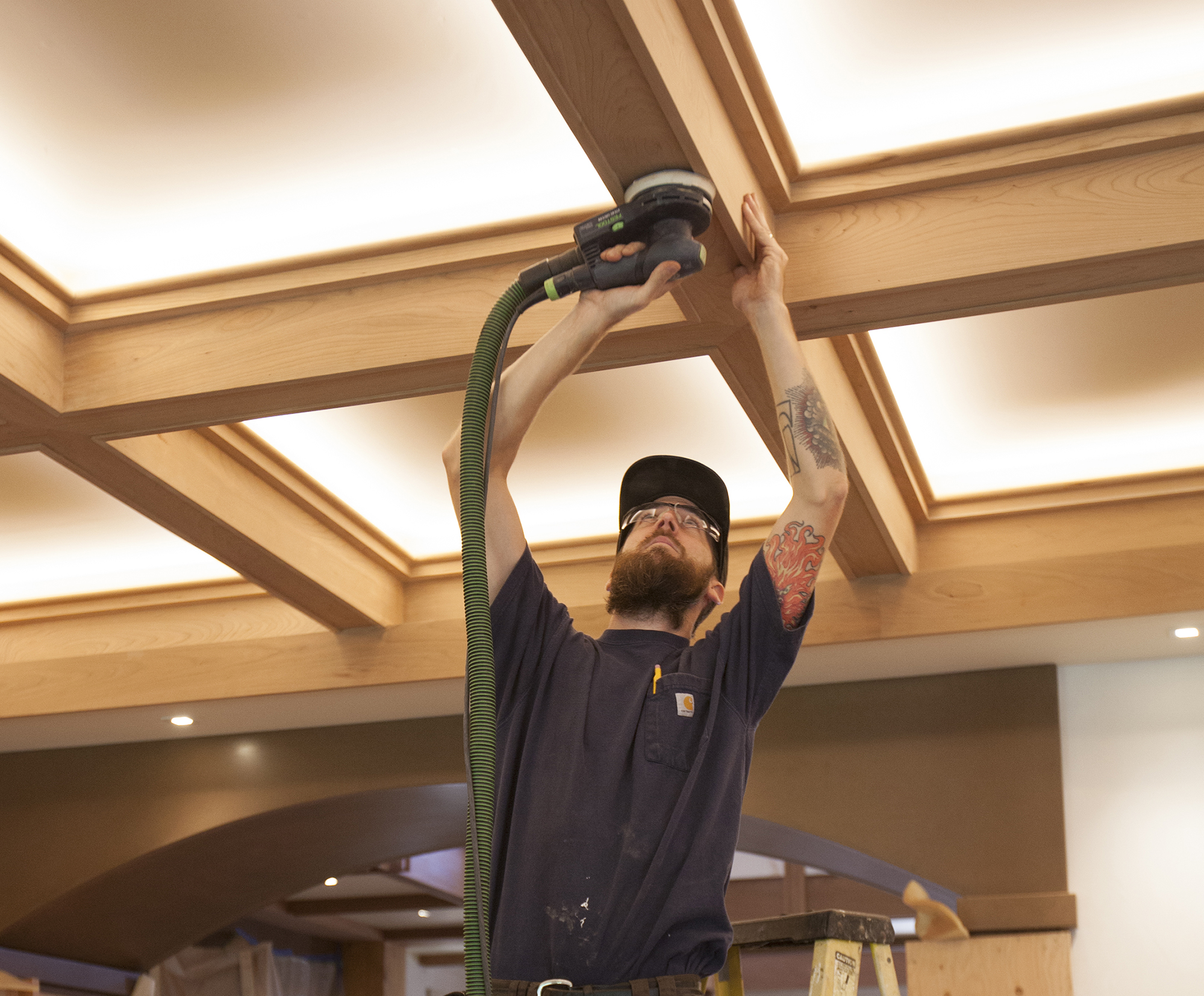 A Craftsmanstyle Coffered Ceiling  Jlc Online