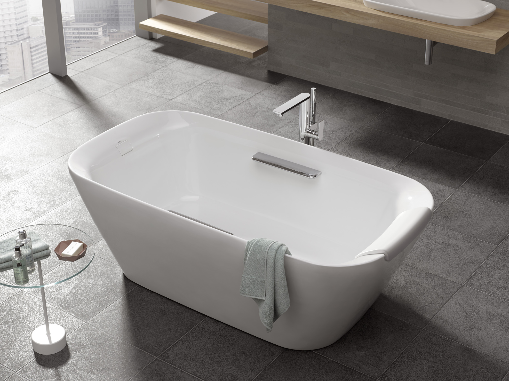 Totos Neorest Suite Gains Freestanding Tub  Custom Home
