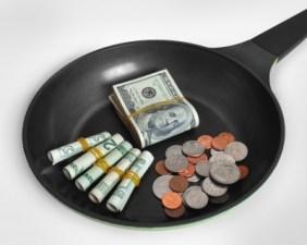 sartén dinero