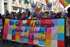 Manifestación por los derechos de las limpiadoras del hogar. (C) Territorio doméstico