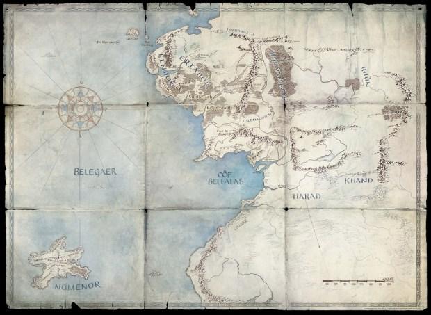 mapa se%C3%B1oranillosserie - Segunda Edad de la Tierra Media: ¿qué hechos contará la serie de 'El señor de los anillos' de Amazon?