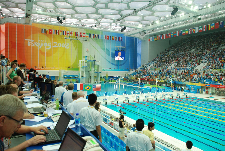 Santuarios del deporte Centro Acutico Nacional de Pekn la piscina de los rcords  Qu fue de