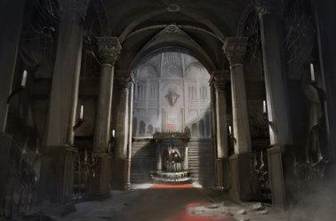 ArtStation concept002 Demon s Castle Entrance Hall AL Tseng 阿麟