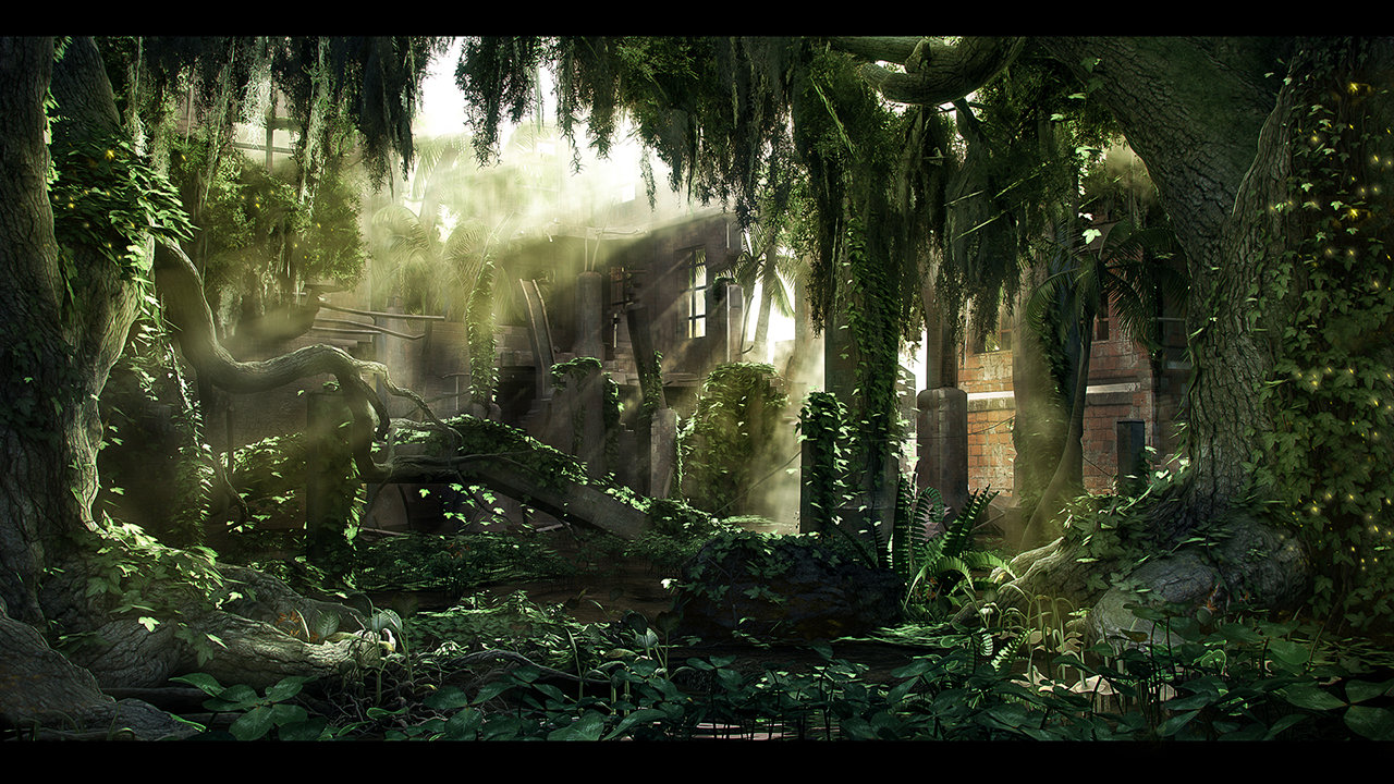 Lord Buddha Animated Wallpapers Artstation Jungle Ruins Volkan Kacar